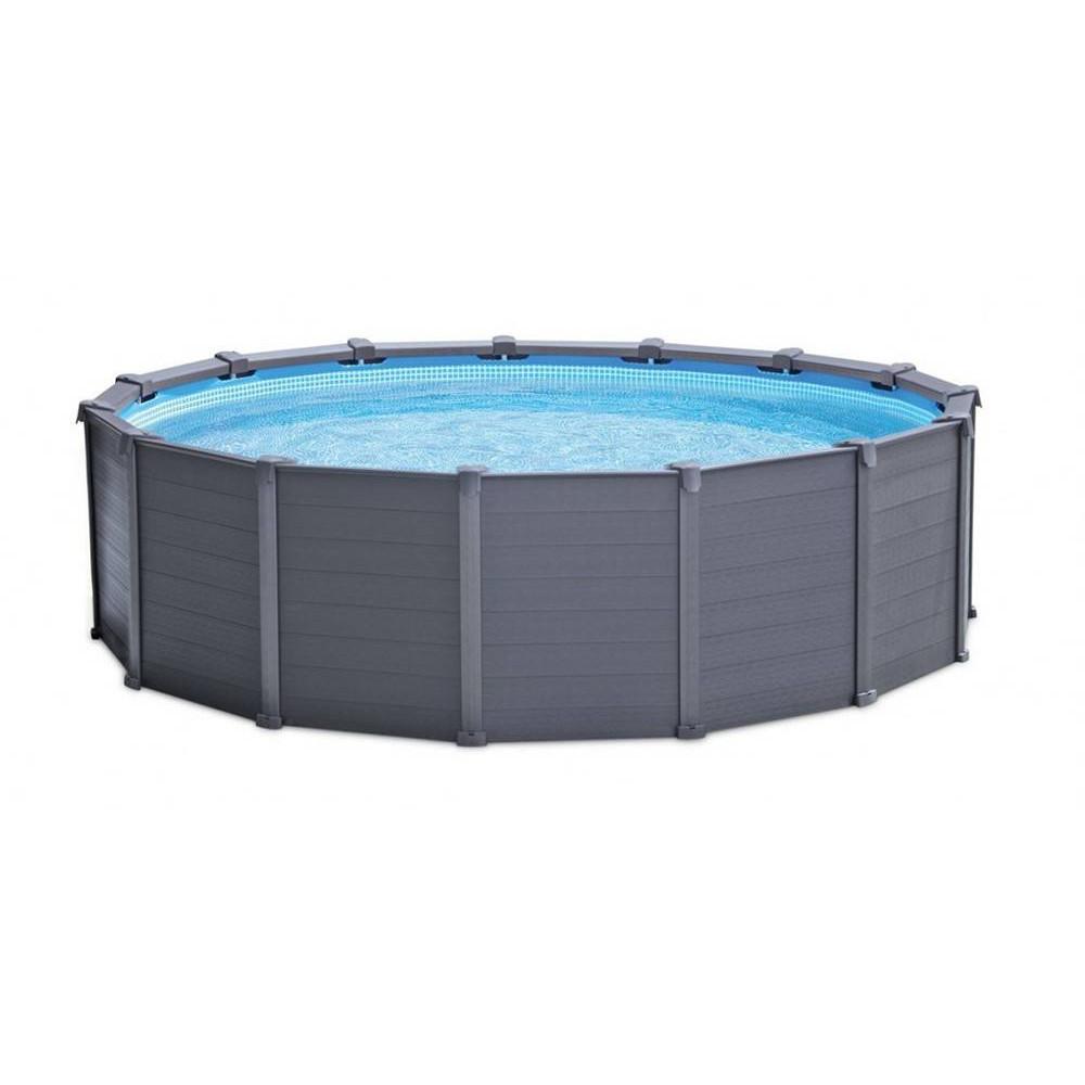 Intex Graphite Gray Panel Pool 4,78x1,24 m + piesková filtrácia 26382NP