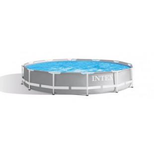 Bazén Intex Prism Frame nadzemný bazén, v ktorom si skutočne zaplávete? Bazén Intex Prism Frame je ideálnou voľbou. Medzi jeho nesporné výhody patrí jednoduchá montáž, stabilná konštrukcia – novo vyvinutý unikátny kovový rám a príjemný design. Relaxujte v našich bazénoch Intex Prism Frame.V bazéne sú pripravené vstupy na pripojenie pieskovej ale aj kartušovej filtrácie podľa vášho výberu. Material a kvalita: Je vyrobený z trojvrstvového PVC SUPER-TOUGH® a má pevné vinylové dno.Tento veľmi pevný materiál sa skladá a z polyesterovej podkladovej tkaniny so silným, obojstranne nalaminovanými PVC. SUPER-TOUGH® je odolný proti slanej vode a obzvlášť odolný proti oderu, nárazu a slnečnému žiareniu.