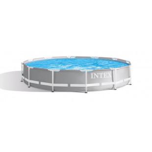 Bazén Intex Prism Frame nadzemný bazén, v ktorom si skutočne zaplávete? Bazén Intex Prism Frame je ideálnou voľbou. Medzi jeho nesporné výhody patrí jednoduchá montáž, stabilná konštrukcia – novo vyvinutý unikátny kovový rám a príjemný design. Relaxujte v našich bazénoch Intex Prism Frame. V bazéne sú pripravené vstupy na pripojenie pieskovej ale aj kartušovej filtrácie podľa vášho výberu. Material a kvalita: Je vyrobený z trojvrstvového PVC SUPER-TOUGH® a má pevné vinylové dno.Tento veľmi pevný materiál sa skladá a z polyesterovej podkladovej tkaniny so silným, obojstranne nalaminovanými PVC. SUPER-TOUGH® je odolný proti slanej vode a obzvlášť odolný proti oderu, nárazu a slnečnému žiareniu.
