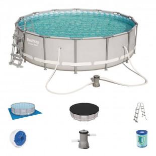 Nadzemny bazen BESTWAY Power Steel 427x107 cm + filtrácia 56641