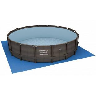 Nadzemny bazen BESTWAY Power Steel Rattan 488x122 cm filtrácia FLOWCLEAR ™ SKIMATIC ™ 56666
