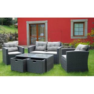 Set záhradného nábytku s úložnými boxami FS-3049