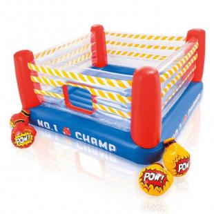 Hracie centrum Intex Boxérsky ringje detský nafukovací bazén spojený s vyvýšeným ringomz veľmi odolného certifikovaného materiálu. Jedná sa o nafukovací bazén s rozmermi226 x 226 x 110 cm, ktorý si vaše deti jednoducho zamilujú a zažijú sním mnoho zábavy. Urobte svojim deťom deň pri bazéne ešte viac vzrušujúci s týmto nafukovacím ringoms nosnosťou 56kg.