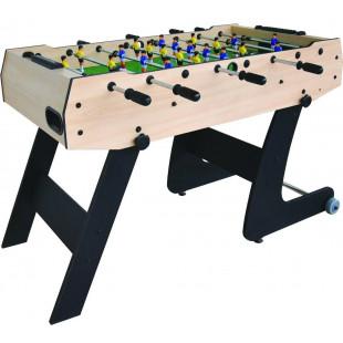 Skladací drevený stolný futbal