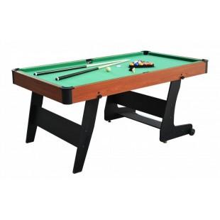 Pozvite svojich známych, priateľov či rodinu na biliardový turnaj k sebe domov. Stôl má výškovo nastaviteľné nohy pre perfektné vyrovnanie stola, centrálne vrátení gúľ a rohy zabraňujúca prípadnému odretiu. Je dodávaný rozmontovanom, ale balenie obsahuje všetko potrebné k tomu, aby ste stôl rýchlo zložili a mohli začať hrať. Výhodou tohto stola je jeho jednoduchá údržba.