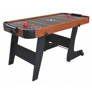AIR HOCKEY - je druh populárnej arkádovej hry určenej pre dvoch hráčov.Na hru sa používa špeciálne pripravený stôl.Povrch stola je pokrytý otvormi, cez ktoré je fúkaný vzduch.Vytvorí sa airbag, na ktorom sa disk posúva bez kontaktu so zemou.Ďalšou výhodou opísaného súboru je možnosť vertikálneho skladania stola, čo uľahčuje jeho skladovanie.