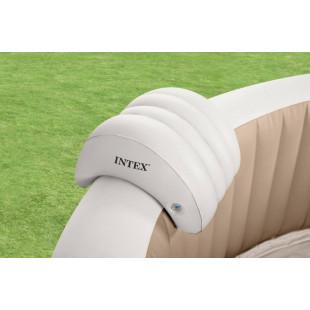 Pre ešte väčší relax a pohodlné opretie hlavy počas pobytu vo vírivke. Od dnes sa môžete cítiť ako v profesionálnom SPA a to priamo vo svojej záhrade. Medzi hlavné výhody produktu patrí, pohodlná opierka hlavy zaručuje príjemný a pohodlný relax vo vírivke, vďaka špeciálnemu tvaru je možné opierku nasunúť na vrchnú časť steny vírivky, vyrobenáz odolného materiálu, ktorý zaisťuje vynikajúcu podporu krku.