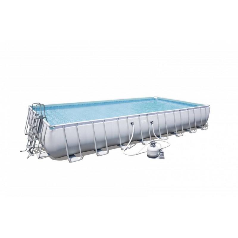 Nadzemny bazen BESTWAY Power Steel 956x488x132 cm s pieskovou filtráciou 56623