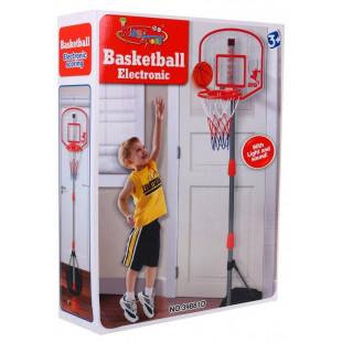 Basketbalový kôš s elektronickým počítadlom