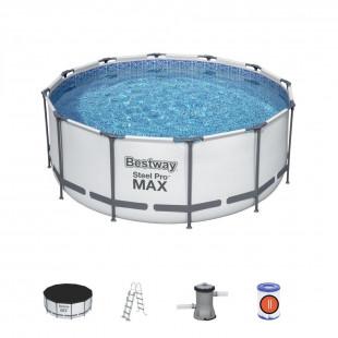 Nadzemny bazen BESTWAY Steel Pro Max 366x122 cm filtrácia 6v1 56420