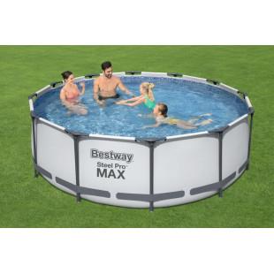 Nadzemny bazen BESTWAY Steel Pro Max 366x100 cm + filtrácia 4v1 56418