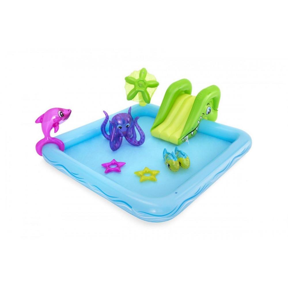 BESTWAY detský bazénik akvárium so šmýkačkou 239x206x86 cm 53052