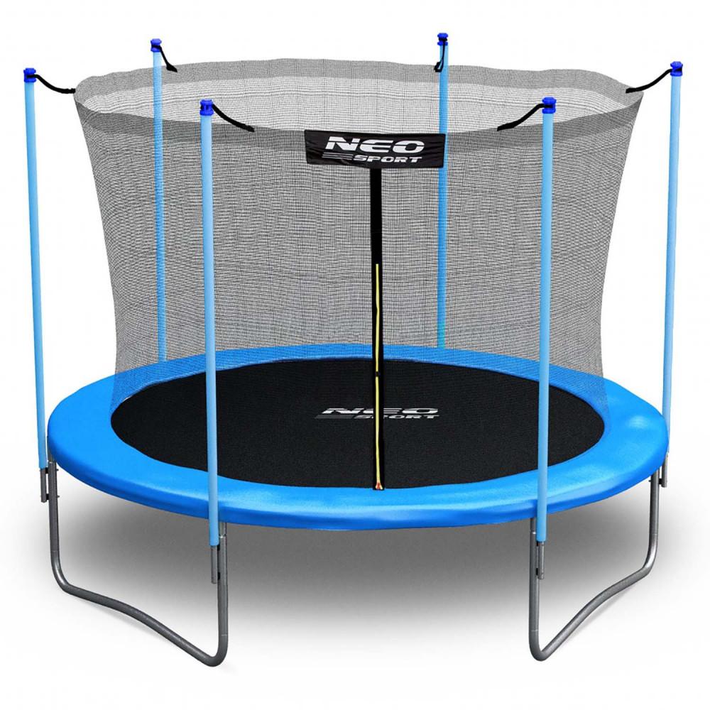 Trampolína Neo-Sport 252 cm + ochranná sieť + schodíky
