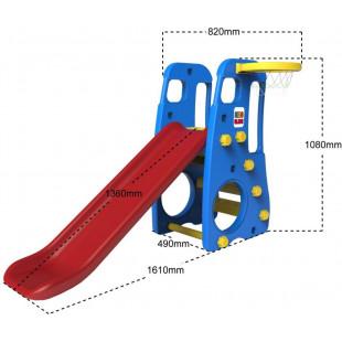 Slide Swing Basketball 3v1 modrý