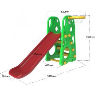 Slide Swing Basketball 3v1 zelený