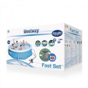 Nafukovaci bazen Bestway Fast Set 2,44x0,66 m 4v1 + kartušová filtrácia 57268