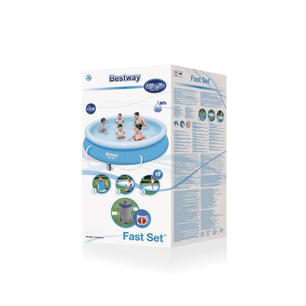 Nafukovaci bazen Bestway Fast Set 3,66x0,76 m 4v1 + kartušová filtrácia 57274