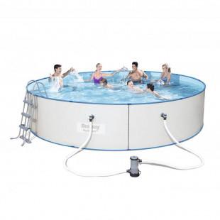 Nadzemny bazen BESTWAY HYDRIUM 460x90 cm 4v1 56386 - oceľový celoročný bazén