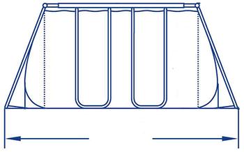Celkové rozmery nadzemného bazénu s konštrukciou